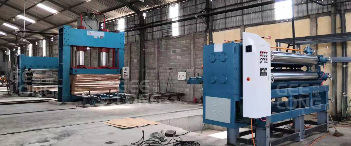 plywood hot press and cold press machine