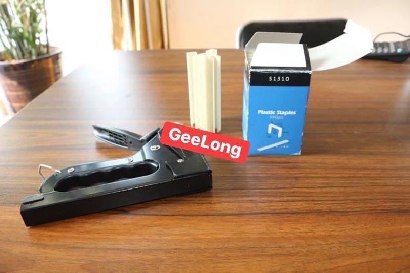 staples plastik / kuku dan stapler dan pistol pneumatik secara manual