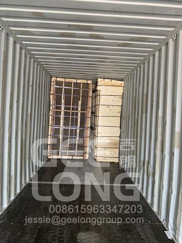 GeeLong ekspor 1full kontainer birch veneer ke klien kami