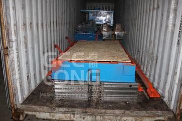 GeeLong Machinery mengekspor dua kontainer mesin pengering tipe veneer panas menekan ke Filipina