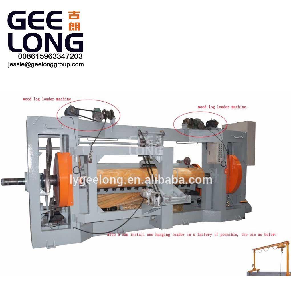 8 kaki spindle veneer mengupas mesin untuk kayu log berdiameter besar